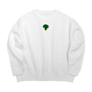🥦ブロッコリー🥦のブロブロッコリー Big Crew Neck Sweatshirt