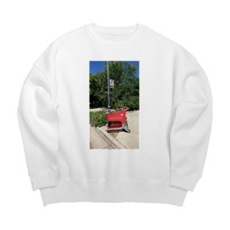 チルTショップのAbandoned Shopping Carts 4 Big silhouette sweats