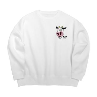 CRAZY COW type-B Big silhouette sweats