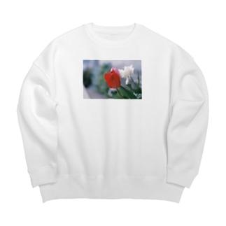 ふくだのチューリップ Big Crew Neck Sweatshirt