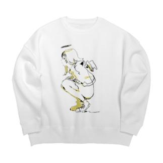 2021soloExhibit01 Big Crew Neck Sweatshirt
