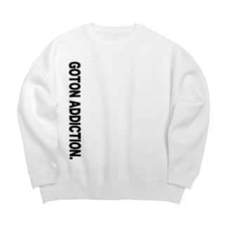 ゴトン中毒 ビッグシルエットスウェット(White/Gray) Big silhouette sweats
