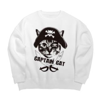Nobigao 海賊猫 Big silhouette sweats