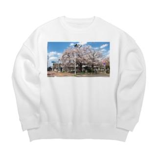 まぶしい京都の春 Big silhouette sweats