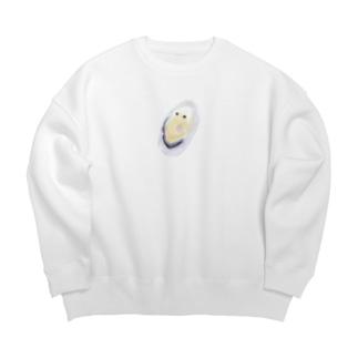 旅する牡蠣 Big Crew Neck Sweatshirt