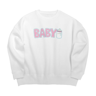 BABY ピンク Big silhouette sweats