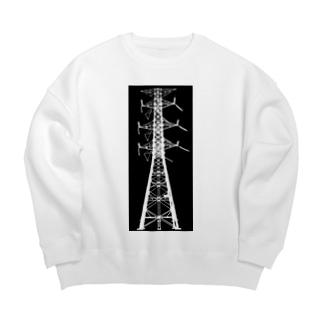山中 透の鉄塔No.22 Big silhouette sweats