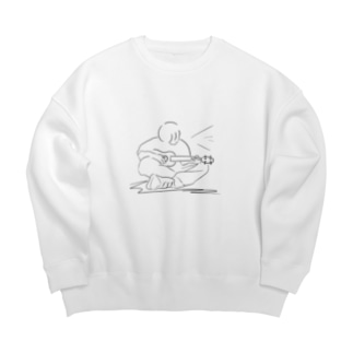 線画 ギター弾き Big silhouette sweats