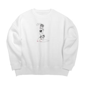 バニ女 Big silhouette sweats