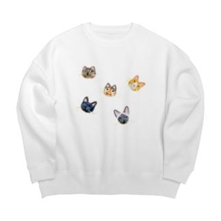ねこ!ねこ!ねこ! Big Crew Neck Sweatshirt
