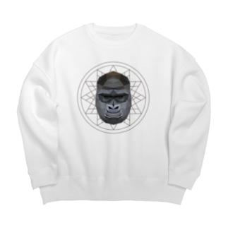 Polygonal Animal Face【06 Gorilla】 Big silhouette sweats