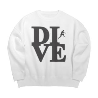 """Dive"" POP-ART風 Big silhouette sweats"
