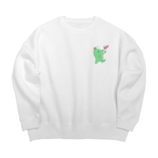 恐竜のきぃくん Big silhouette sweats