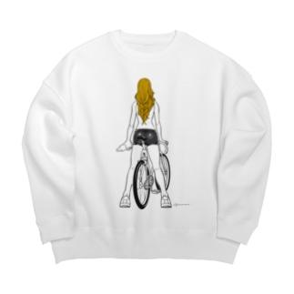 fixed bike Big Crew Neck Sweatshirt