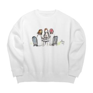 ムラナギ/ヌガーポップ Big Crew Neck Sweatshirt