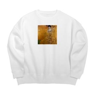 グスタフ・クリムト(Gustav Klimt) / 『アデーレ・ブロッホ=バウアーの肖像 I』(1907年) Big Crew Neck Sweatshirt