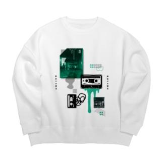 カセットテープ(両面/薄色用) Big silhouette sweats