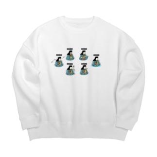 色々な謙信 Big Crew Neck Sweatshirt