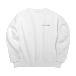 ヘブライ語 新しい始まり(ワンポイント グレー) Big Crew Neck Sweatshirt