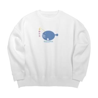 お魚辞典シリーズ🐟チョウチンアンコウ Big silhouette sweats