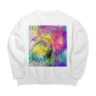 vivid Big Crew Neck Sweatshirt