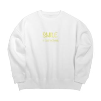 Smile ロゴ Big silhouette sweats