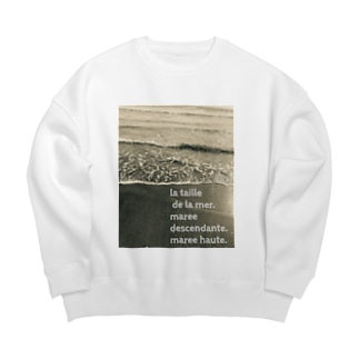 oka__のモノクロ Big Crew Neck Sweatshirt
