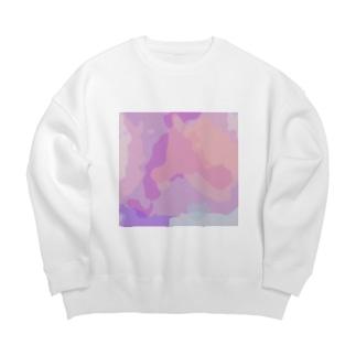oka__のnuance Big Crew Neck Sweatshirt