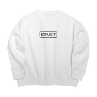 露骨な [Explicit] -Label- Big silhouette sweats