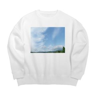 癒しの風景(空と雲) Big silhouette sweats