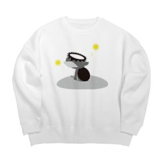 かっぱ(モノクロ) Big silhouette sweats