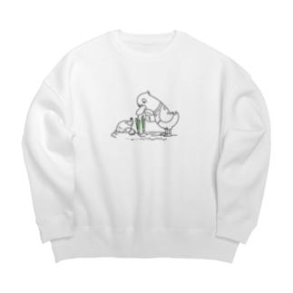 ノーマルサイズ*CT159 ネギを値切っている鴨カモ*A Big Crew Neck Sweatshirt