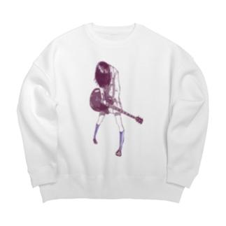 ギターガール013 Big silhouette sweats