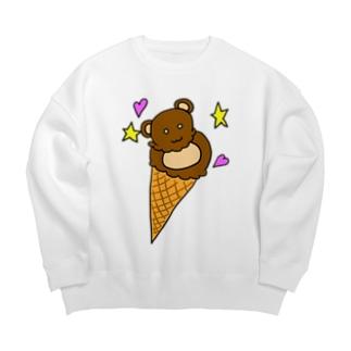 熊アイス Big silhouette sweats