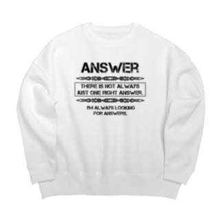 Answer Big silhouette sweats