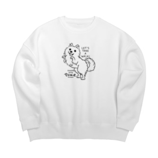 ポメラニアンお散歩WOW_A*M Big Crew Neck Sweatshirt