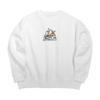 犬がいっぱい Big Crew Neck Sweatshirt