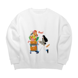 Autumn Shopping(クリア) Big Crew Neck Sweatshirt