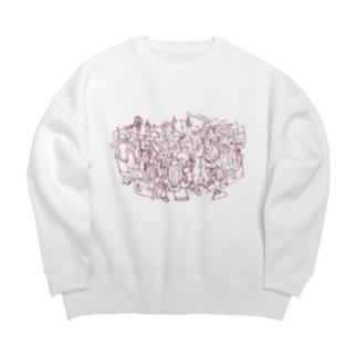 満員電車 Big Crew Neck Sweatshirt