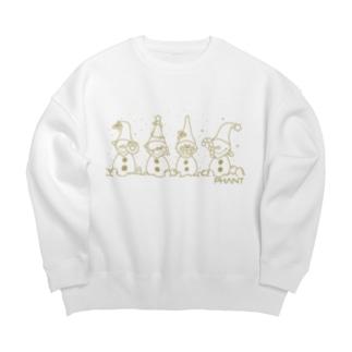 雪だるま/オーカー Big Crew Neck Sweatshirt