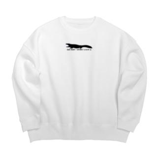 オオサンショウウオめっちゃかわいいロゴ Big Crew Neck Sweatshirt