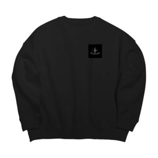 !黒黒! Big silhouette sweats