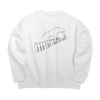 ピアノドッグ Big Crew Neck Sweatshirt