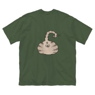 猫尻 Big silhouette T-shirts