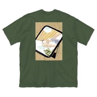 ムード Big silhouette T-shirts