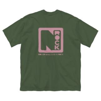 エヌロック ロゴ Big silhouette T-shirts