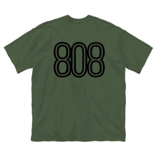 808 - BOB ※BLACK LOGO Big silhouette T-shirts