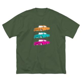 外車外車外車 Big silhouette T-shirts