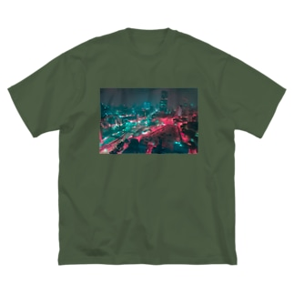 ベトナム夜景 Big silhouette T-shirts