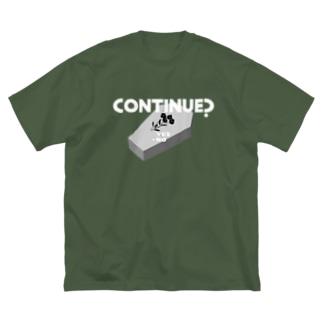 CONTINUE?(Type B) Big silhouette T-shirts